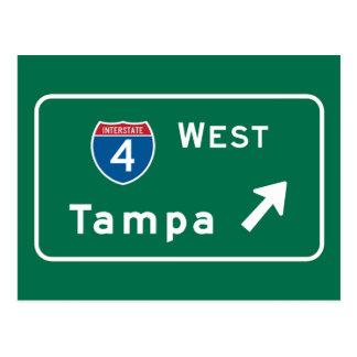 Tampa, FL Road Sign Postcard