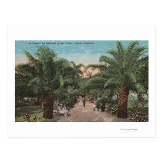 Tampa, FL - View of Ballast Point Park Entrance Postcard