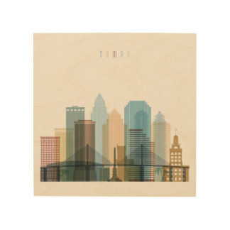 Tampa, Florida | City Skyline Wood Print