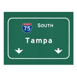 Tampa Florida fl Interstate Highway Freeway : Postcard