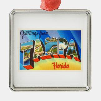 Tampa Florida FL Old Vintage Travel Souvenir Christmas Ornament