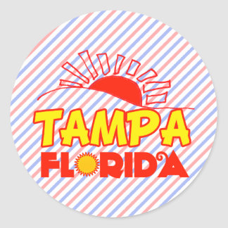 Tampa, Florida Round Sticker