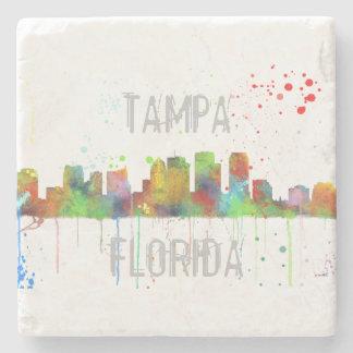 TAMPA, FLORIDA SKYLINE STONE COASTER