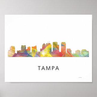 TAMPA, FLORIDA SKYLINE WB1 - POSTER