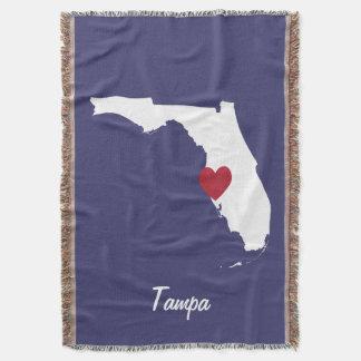 Tampa Florida Throw Blanket