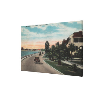 Tampa, Florida - View of Bayshore Blvd Canvas Print