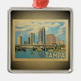 Tampa Florida Vintage Travel Ornament