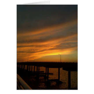 Tampa Sunset at the causeway Card
