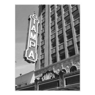 Tampa Theatre Historic Theater Photo Print 2 B&W