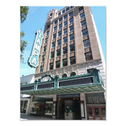 Tampa Theatre Theater Building Sign Photo Print