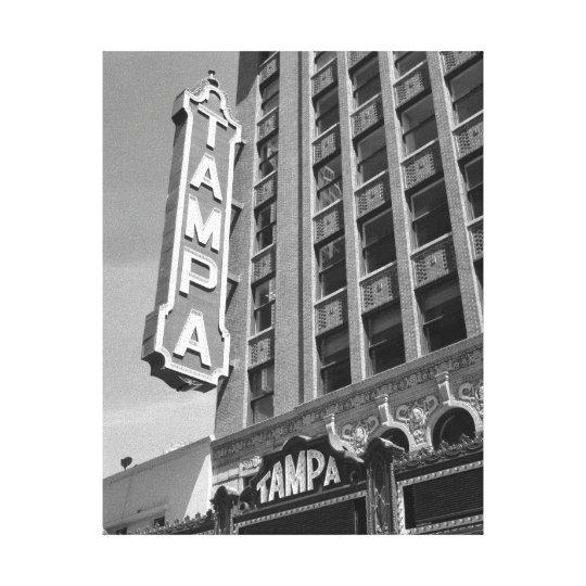 Tampa Theatre Theatre Black and White Photo Canvas