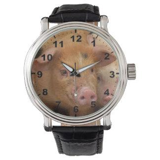 """""""Tamworth Pig"""" design wrist watch"""
