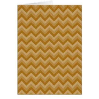 Tan and Beige Zigzag Stripes. Card