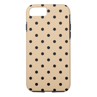 Tan and Black Polka Dot Pattern. iPhone 8/7 Case