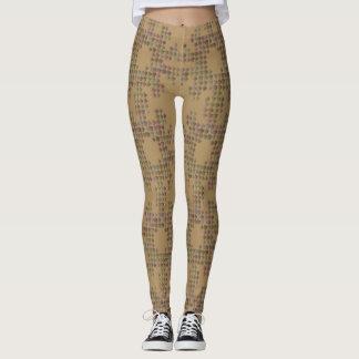 Tan and Brown Squares Leggings