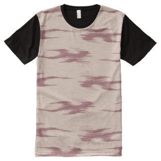 Tan and Red Marks All-Over Print T-Shirt