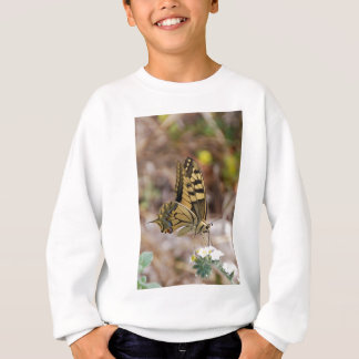 Tan and White Butterfly Sweatshirt