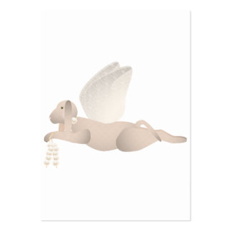 Tan Angel Dog With Orange Wings Pack Of Chubby Business Cards