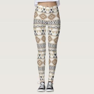 Tan Aztec  Women's Leggings