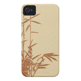 Tan Bamboo on Parchment iPhone 4 Case-Mate Cases