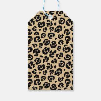 Tan Beige Black Leopard Print