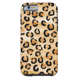 Tan, Black and Brown Leopard Pattern. Tough iPhone 6 Case