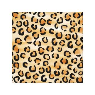 Tan, Black and Brown Leopard Print Pattern.