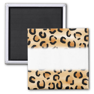 Tan, Black and Brown Leopard Print Pattern. Magnet