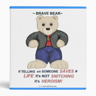 Tan Brave Bear Binder