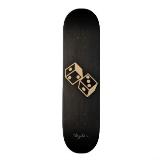 Tan Brown Dice 21.3 Cm Mini Skateboard Deck