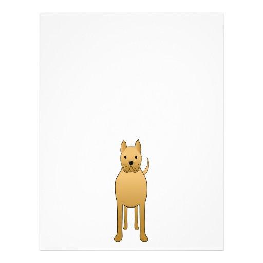 Tan Brown Dog. Cartoon. Custom Flyer