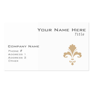 Tan Brown Fleur de lis Double-Sided Standard Business Cards (Pack Of 100)