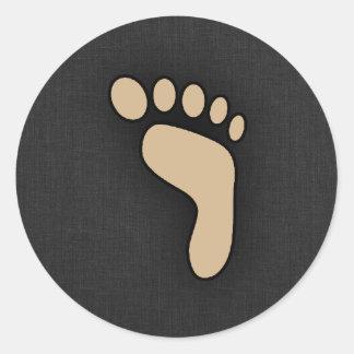 Tan Brown Footprint Round Stickers