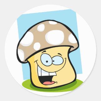 Tan Brown Mushroom Sticker