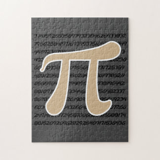 Tan Brown Pi symbol Jigsaw Puzzle