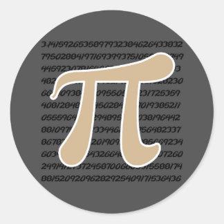 Tan Brown Pi symbol Sticker