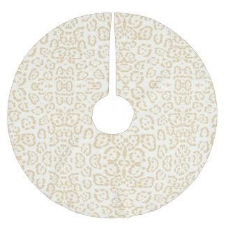 Tan Cheetah Animal Cat Print Brushed Polyester Tree Skirt