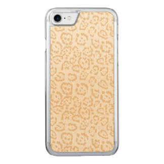 Tan Cheetah Animal Cat Print Carved iPhone 8/7 Case