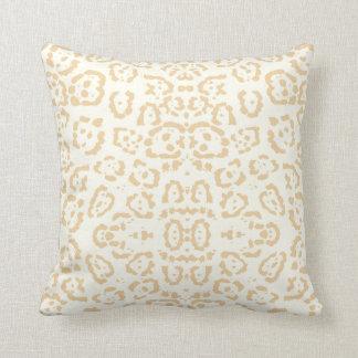 Tan Cheetah Animal Cat Print Cushion