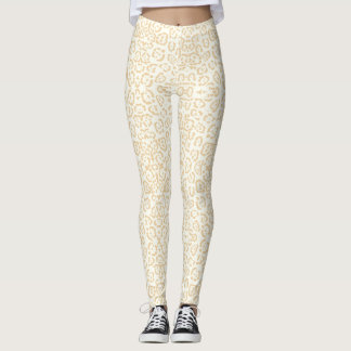 Tan Cheetah Animal Cat Print Leggings