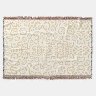 Tan Cheetah Animal Cat Print Throw Blanket