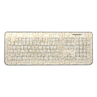 Tan Cheetah Animal Cat Print Wireless Keyboard