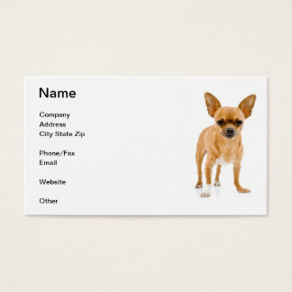 Tan Chihuahua Business Card