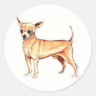 Tan Chihuahua Round Sticker