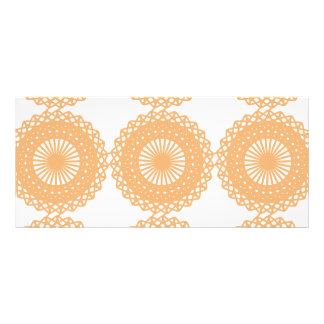 Tan Color Lace Pattern Personalized Rack Card