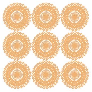 Tan Color Lace Pattern. Photo Cut Outs