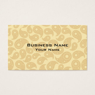 Tan Color Paisley. Business Card