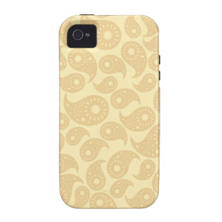 Tan Color Paisley. Case-Mate iPhone 4 Covers