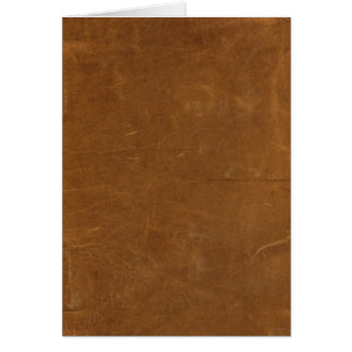 Tan Faux Leather Greeting Card