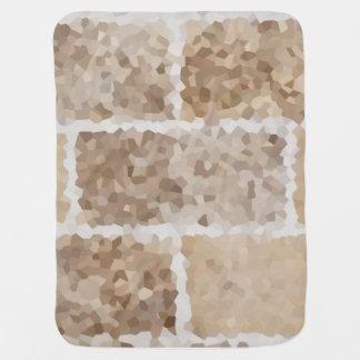 Tan Geometric Baby Blanket